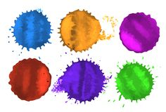 Vector colored spots Stock Image