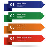 Vector colored stripes with numbers for infografic Royalty Free Stock Photography