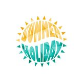 Vector colored summer holiday text Stock Images