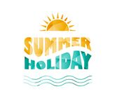 Vector colored summer holiday text Royalty Free Stock Image