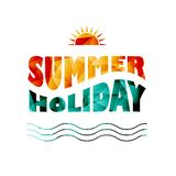Vector colored summer holiday text Royalty Free Stock Photography