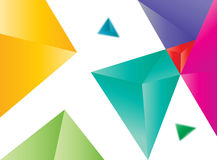 Vector colored triangles abstract Royalty Free Stock Images
