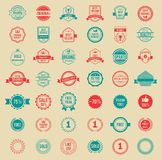 Vector Colored Vintage Badges and Labels. Assorted Designs Vector Colored Vintage Badges and Labels Stock Illustration