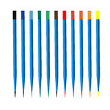 Vector colored wooden pencils on white background Stock Images