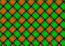 Vector colored woven fiber seamless pattern Royalty Free Stock Images