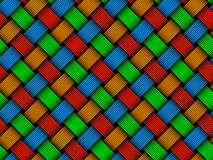 Vector colored woven fiber seamless pattern Royalty Free Stock Image