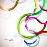 Vector colorful abstract background. Curves lines and bubbles design vector illustration