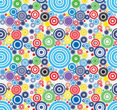 Vector Colorful Abstract circles seamless pattern. Stock Photos