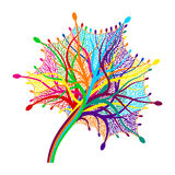 Vector colorful abstract leaf. Stock Photos