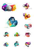 Vector colorful abstract low poly infographic background Stock Photography