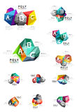 Vector colorful abstract low poly infographic background Royalty Free Stock Photo
