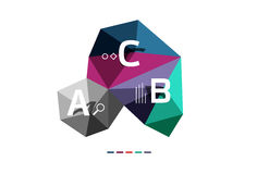 Vector colorful abstract low poly infographic background Royalty Free Stock Image