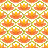 Vector colorful abstract summer flowers elegant seamless pattern Royalty Free Stock Photo