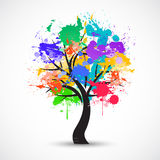 Vector Colorful abstract tree background Stock Image