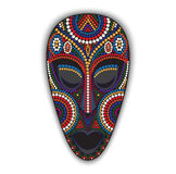 Vector colorful african mask. Royalty Free Stock Images