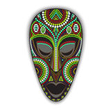 Vector colorful african mask. Royalty Free Stock Image