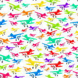 Vector colorful airplanes seamless pattern Royalty Free Stock Photo
