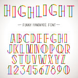 Vector Colorful Alphabet Royalty Free Stock Images