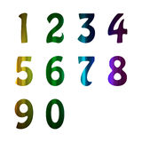 Vector of colorful alphabet number Royalty Free Stock Images