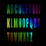 Vector of colorful alphabet number Stock Photos
