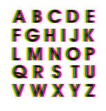 Vector Colorful Alphabet Set - Illustration. Creative Colorful Uppercase Letters. eps10 Vector Illustration