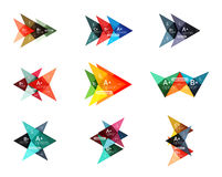Vector colorful arrow option infographics templates set Stock Image