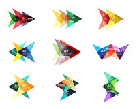Vector colorful arrow option infographics templates set Stock Photography