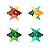 Vector colorful arrow option infographics templates set Royalty Free Stock Photography