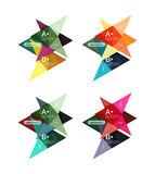 Vector colorful arrow option infographics templates set Royalty Free Stock Photo