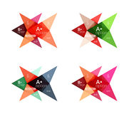 Vector colorful arrow option infographics templates set Royalty Free Stock Images