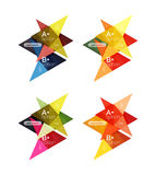 Vector colorful arrow option infographics templates set Stock Photo