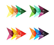 Vector colorful arrow option infographics templates set Stock Photos