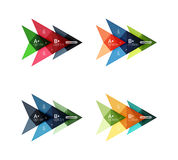 Vector colorful arrow option infographics templates set. For workflow layout, diagram, number options or web design Royalty Free Stock Images