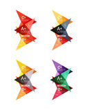 Vector colorful arrow option infographics templates set. For workflow layout, diagram, number options or web design Royalty Free Stock Photos