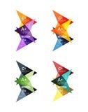 Vector colorful arrow option infographics templates set Stock Photos
