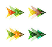 Vector colorful arrow option infographics templates set. For workflow layout, diagram, number options or web design Stock Photography