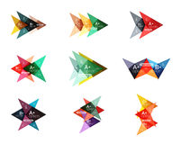 Vector colorful arrow option infographics templates set Royalty Free Stock Image