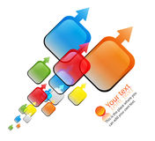 Vector colorful arrows design. Colorful arrows pointing in same direction Stock Images