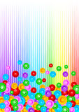 Vector colorful background with circle stock illustration