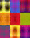 Vector colorful background with dots in pop art style stock illustration