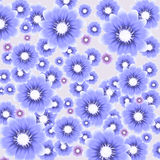 Vector colorful background with flowers Stock Photo