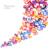 Vector colorful background with flying butterflies. Stock Photos
