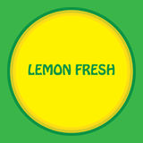 Vector colorful background with  font. Vector colorful background with font lemon fresh Stock Image
