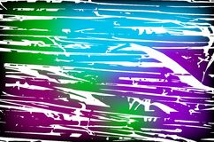 Vector colorful background with grungy texture overlay on top of Stock Photography