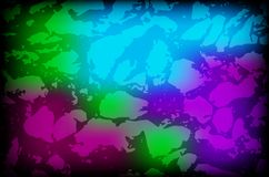 Vector colorful background with grungy texture overlay on top of Stock Images