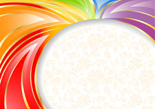 Vector colorful background with seamless pattern royalty free stock image