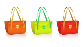 Vector colorful bags Royalty Free Stock Photography