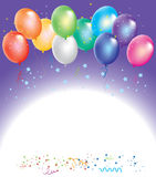 vector colorful balloons with confetti Royalty Free Stock Photo