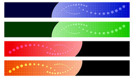 Vector colorful banners Stock Photos