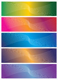 Vector colorful banners. Beautiful  illustration of five colorful banners Royalty Free Stock Photo